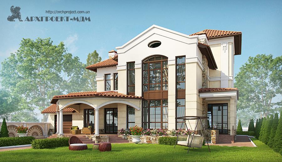 Приватний будинок в стилі неокласицизм