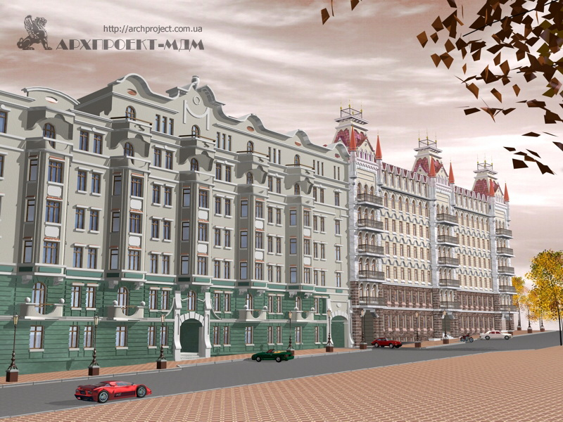 Residential buildings, Sabansky per., 2, 4